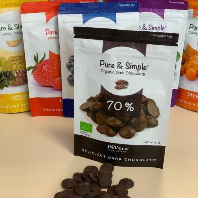 Натуральный горький шоколад 70%