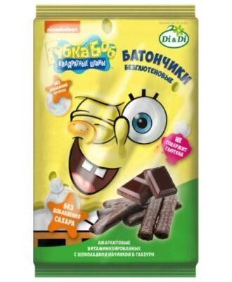 Батончики Губка Боб с шоколадной начинкой 110г