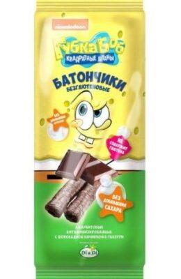 Батончики Губка Боб с шоколадной начинкой 20г
